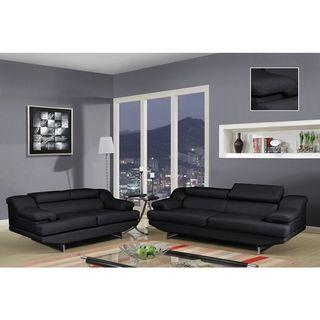 Natalie Black/ Wagner Black Sofa | Overstock™ Shopping - Great Deals on Sofas & Loveseats