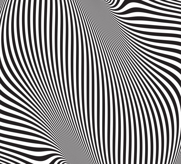 Optical Illusion. Abstract Background With Wavy Pattern