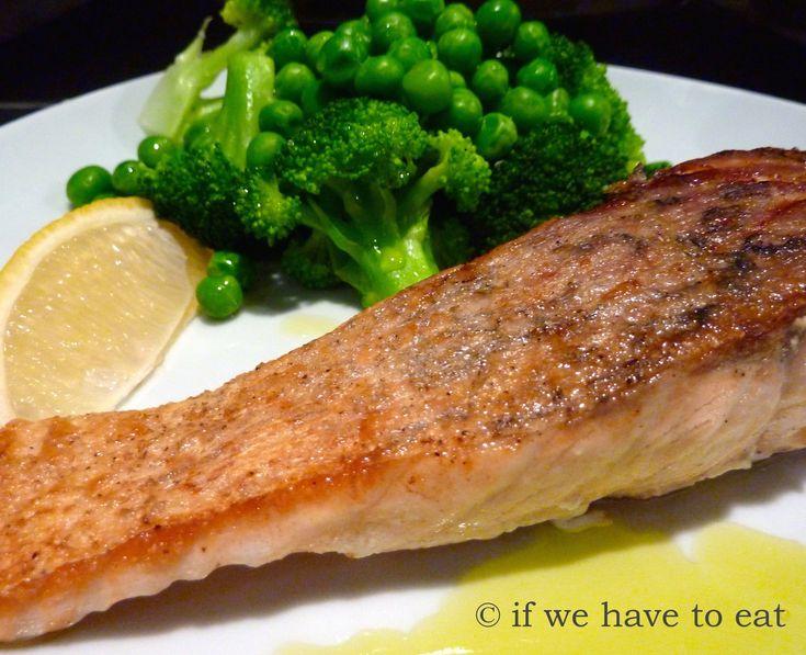 Crispy Skin Salmon Broccoli Peas | Thermomix