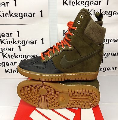 Nike women s dunk sky hi sneakerboot 2.0 wedge loden anthracite 684954-300  7-10  1a6e427e6
