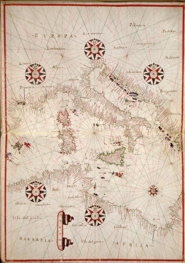 Central Mediterranean, 1590 - [Portolan atlas of the Mediterranean Sea, western Europe, and the northwest coast of Africa]