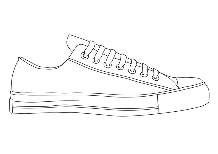 Best Photos of Sneaker Design Template - Converse Shoe Drawing ...