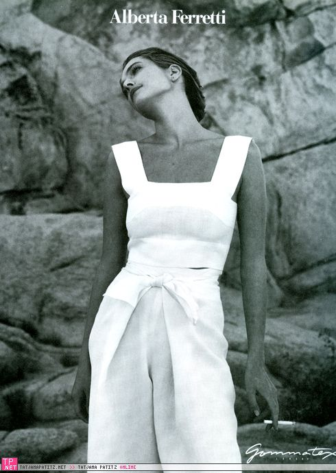 Tatjana Patitz | Photography by Peter Lindbergh | For Alberta Ferretti Campaign | Spring 1990