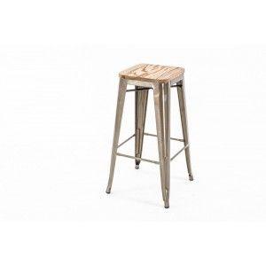 Legend-Café kruk Hoog 77 cm Met houten zitting-317