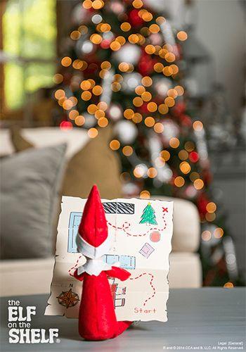 Elf On The Shelf Ideas | Treasure Hunt