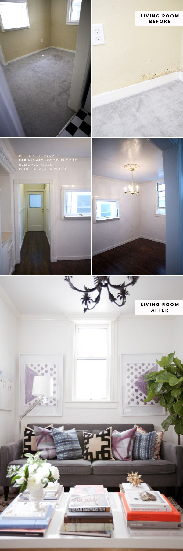 Before and After 500 Sq Ft (47kvm) Apartment