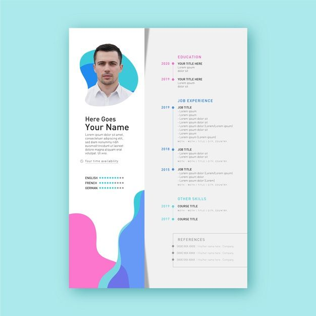 Download Modern Cv Template Concept For Free In 2021 Modern Cv Template No Experience Jobs Modern Cv