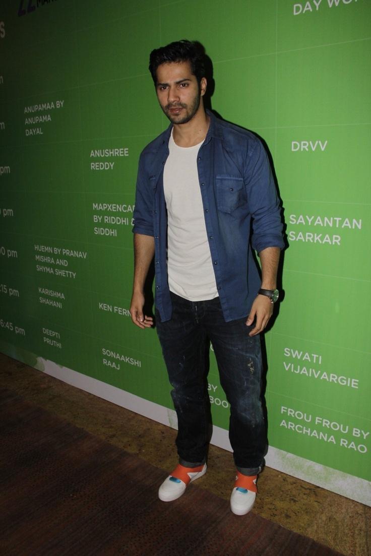 Varun Dhawan at Day 2 of Lakme Fashion Week 2013.
