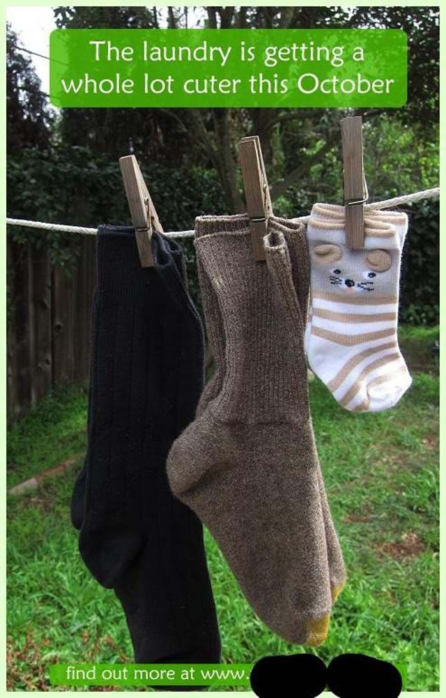 At first we didn't understand why this couple wanted to start wearing baby socks, especially in October when it starts getting cold outside. Then, we realized… duh!