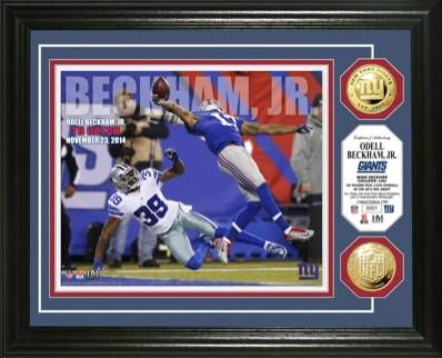 Odell Beckham Jr's Incredible One-Handed TD Catch has sparked a series of incredibly popular signed memorabilia. Take a look at the entire line available to collectors on http://www.cardboardconnection.com/football/steiner-produces-odell-beckham-handed-signed