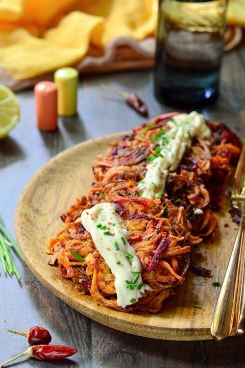 Édesburgonyás céklaröszti majonézzel recept