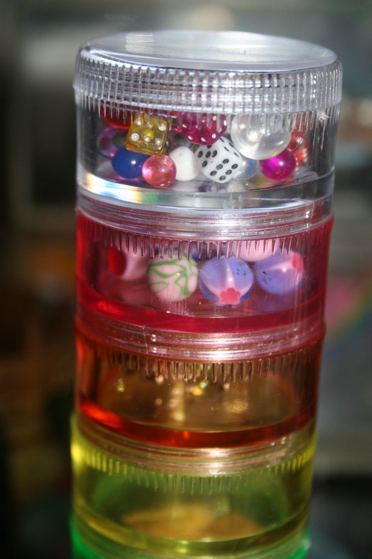 Use a cheap pill organizer from the dollar tree to organize rings, extra buttons etc