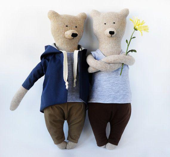 James The Bear. Primitive teddy Bear. Child от PhilomenaKloss