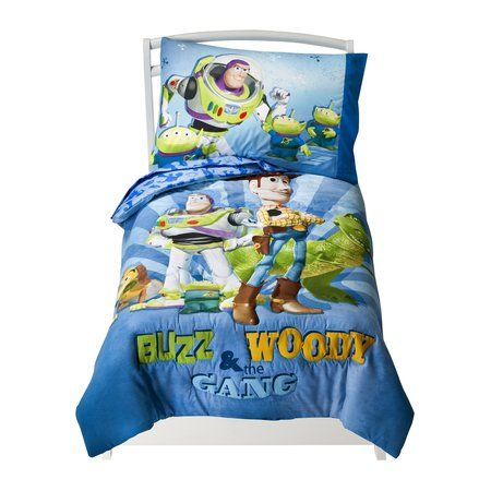 for Hudsy when he's in his new bed :)Disney Toy Story - Buzz, Woody and Gang  - 4 Piece Toddler Set