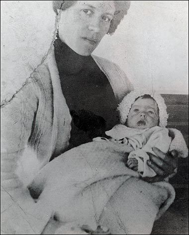 Baby Millvina Dean with mother Georgette -- she is the last Titanic Survivor - Millvina died in 2009