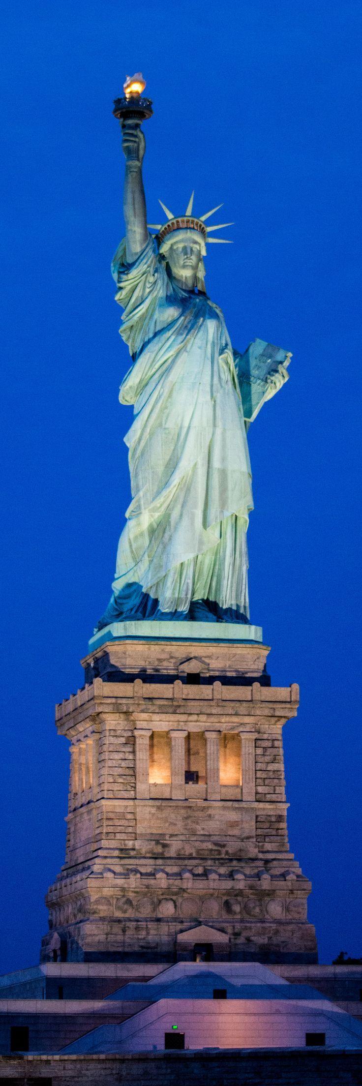Die Freiheitsstatue ist ein Symbol für Amerika und die Freiheit, die wir in n