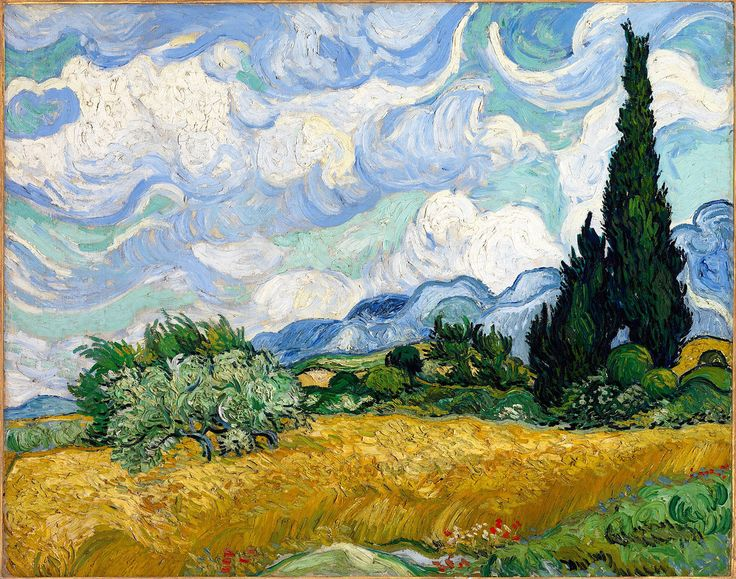 The Athenaeum - Wheat Field with Cypresses (Vincent van Gogh - )