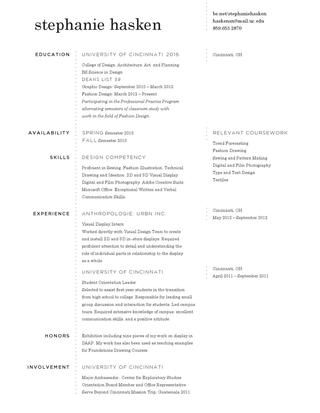 Resume W/ Online Portfolio  Well Designed Resumes
