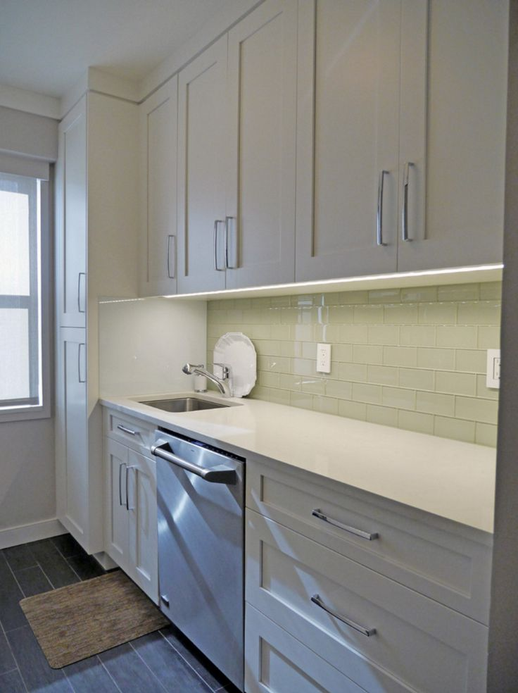 From The Celadon Green Glass Subway Tile Backsplash To The