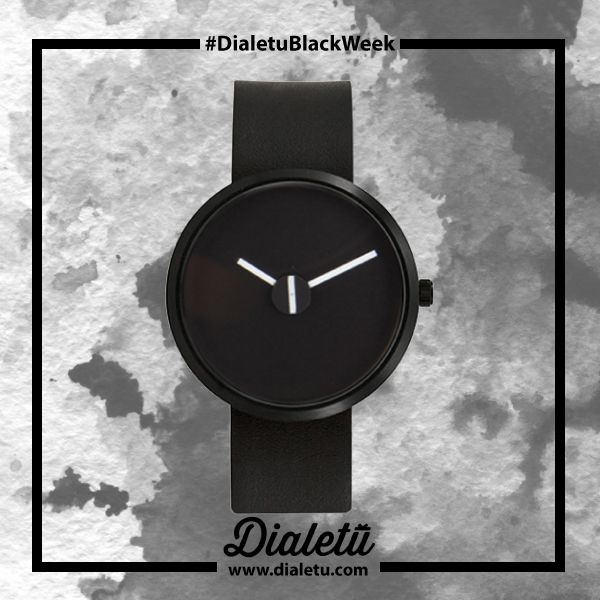 Unique with a design that expresses the love for time.   SOMETIMES BLACK 36MM (BLK LEATHER) by Projects.