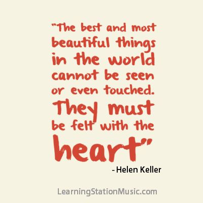 helen keller sees beauty in all things To answer this question, take a look at helen keller's autobiography, the story of my life in chapter seven, helen talks about her teacher, anne sullivan, and says: in chapter seven, helen talks.