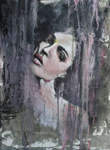 "Saatchi Art Artist Donatella Marraoni; Painting, ""Do I look happy?"" #art"