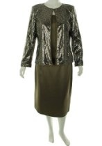 Kasper Golden Night 3 Piece Skirt Suit