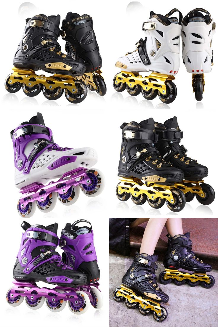 [Visit to Buy] Slalom FSK Inline Skates Patines for Adults Daily Skating Sports with 85A PU Wheels ABEC-7 Bearing Aluminium Alloy Frame Base #Advertisement