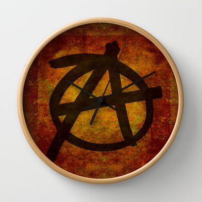 Distressed Anarchy Wall Clock by Bruce Stanfield - $30.00Distressed Anarchy Art Print by Bruce Stanfield ed, war, art, sign, dark, icon, wall, free, anti, punk, rough, chaos, black, shape, youth, symbol, design, grungy, sketch, grunge, culture, liberty, graphic, freedom, drawing, texture, anarchy, politics, graffiti, movement, anarchist, anarchism, different, political, government, revolution, background, illustration, sub culture, establishment, anti establishment #Anarchy