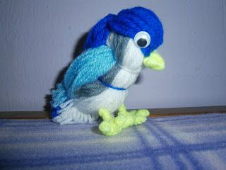 Lia B. Creations: Bluebird (made of yarn)
