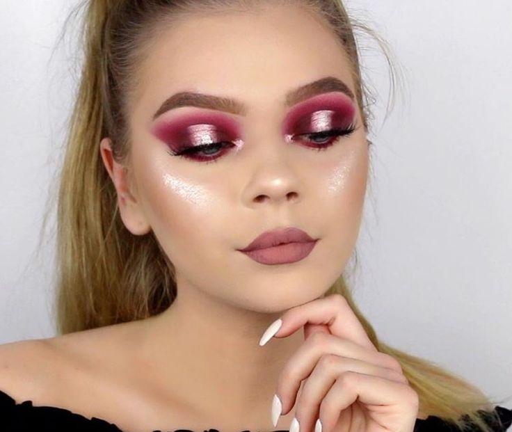 Tina halada halo metallic pink eyes bold
