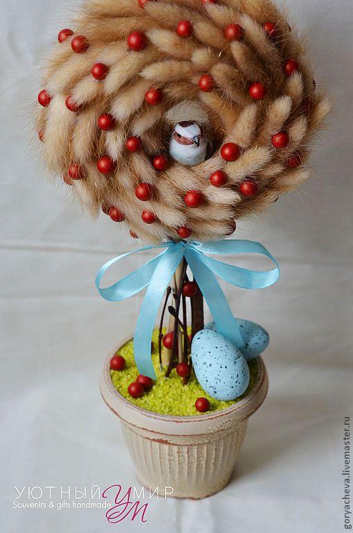 """Купить Топиарий """"Пасхальный кулич"""" - топиарий, топиарий дерево счастья, топиарий из сухоцветов, весеннее настроение"""