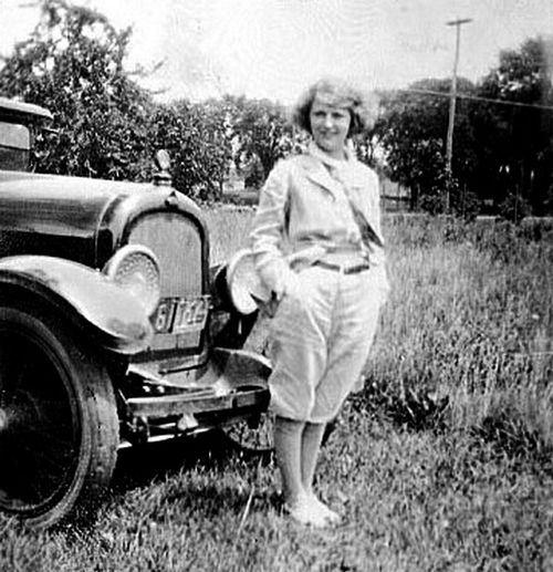 Zelda Fitzgerald, the original flapper, dressed scandalously on her honeymoon.