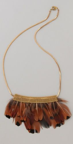 serefina Short Mesh Feather Necklace...a must!