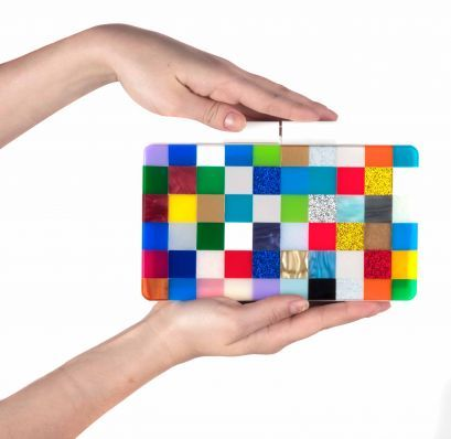 Shop Urania Gazelli Rainbow Clutch - #AM21 luxury store www.AM21.com