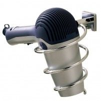 Braga wall-mounted hairdryer holder in chrome by Valsan