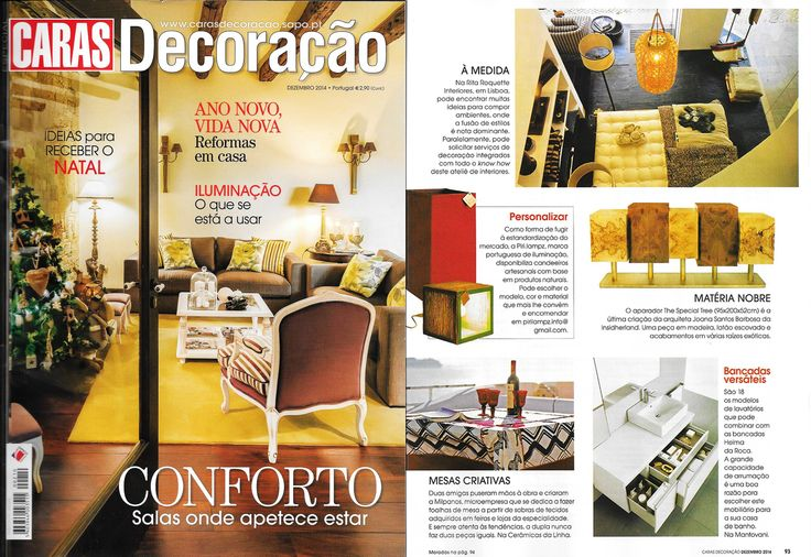 INSIDHERLAND | The Special Tree sideboard by Joana Santos Barbosa featured in Caras Decoração from Portugal, December 2014 #INSIDHERLAND #thespecialtree #brass #exoticroots #design