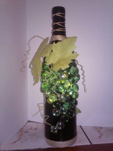 Moja pierwsza butelka z winogronem. JK