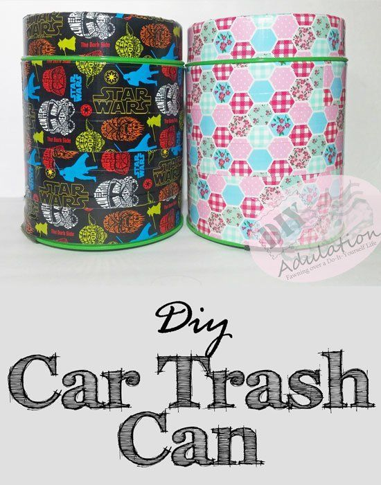 Easily keep your vehicle clean with this easy-to-make DIY car trash can!