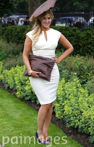 Cheska from MIC goes for a grad hat theme during Ladies' Day at Royal Ascot