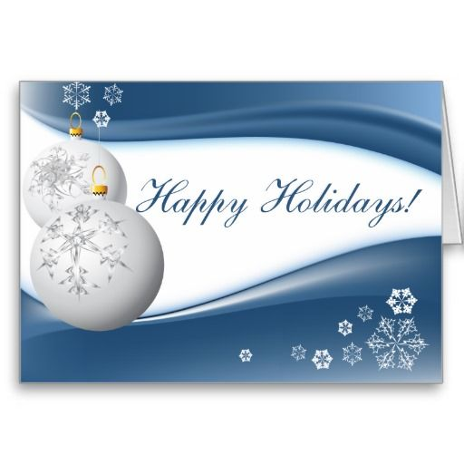 White And Blue Christmas Card Blue Christmas