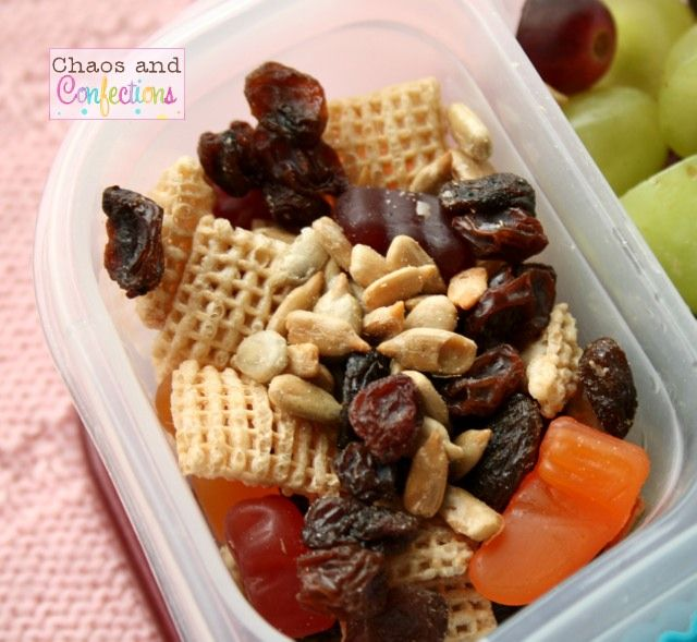 snack mix with whatever is on hand. Preschool lunch