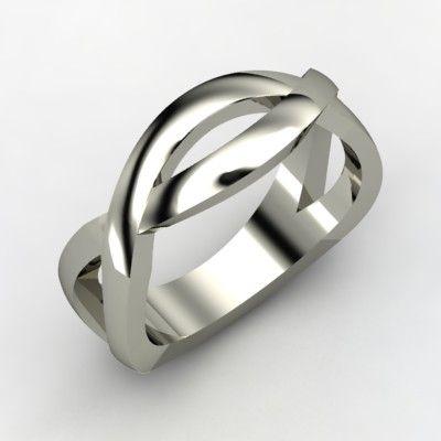 Silver men's ring