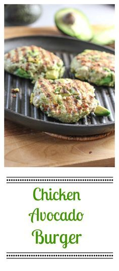 Chicken Avoado Burger  - use sprouted bread crumbs
