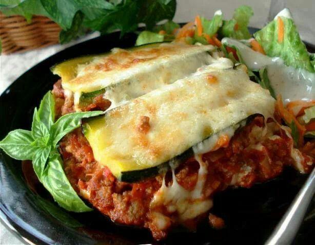 Zucchini lasagna (no pasta)