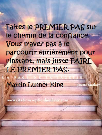 La Page de la Sagesse : Citation sur la confiance en soi, de Martin Luther...