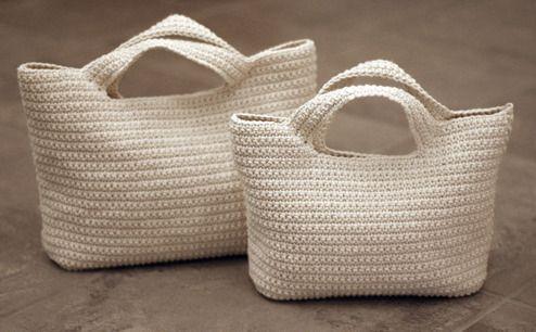 Вязаные сумки из полиэтиленовых пакетов - Ярмарка Мастеров - ручная работа, handmade