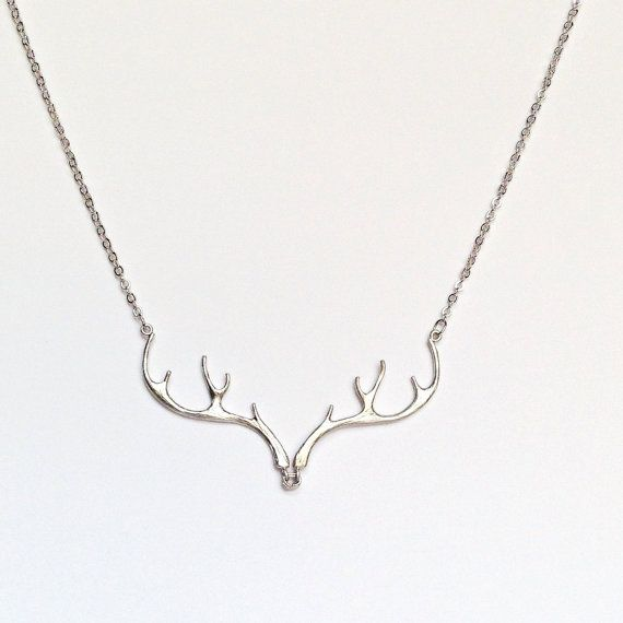Antler Necklace | Hunting Necklace | Redneck Jewelry | by The Glittered Gal