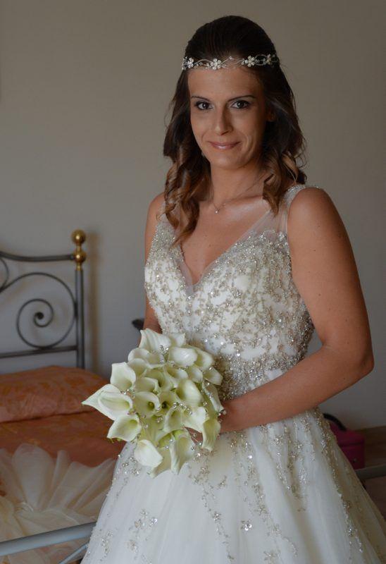 #realbride con abito da sposa in tulle ricamato