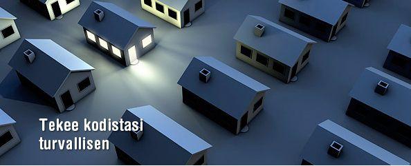 Talomat Easy - Järjestelmän toiminta perustuu myös älykkääseen valaistuksen ohjaukseen ja siihen liitettäviin muihin toimintoihin.